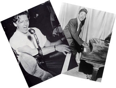 Jerry Lee Lewis and Little Richard