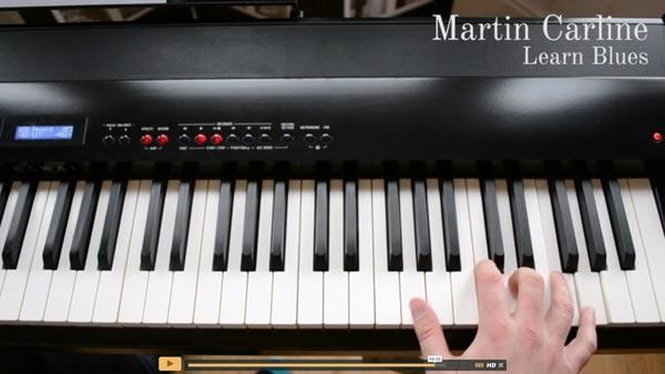 Blues piano lessons screenshot
